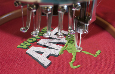 Polo shirt embroidery sample