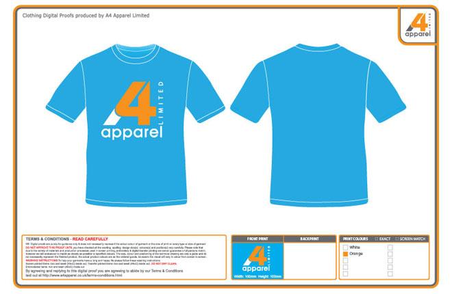 Sample mock up of printed t-shirt