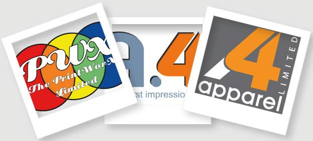 A4 Apparel's logo transition