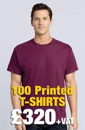 100 x Gildan Heavy Cotton™ T-Shirts Deal